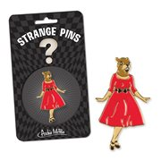 Squirrel in Red Dress Strange Pin