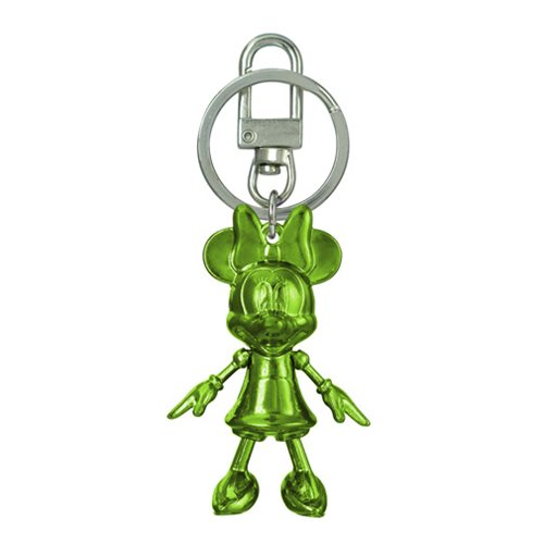Minnie Mouse August Peridot Pewter Dangle Key Chain