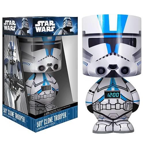 Star Wars 501st Clone Trooper Lamp Clock And Mp3 Dock