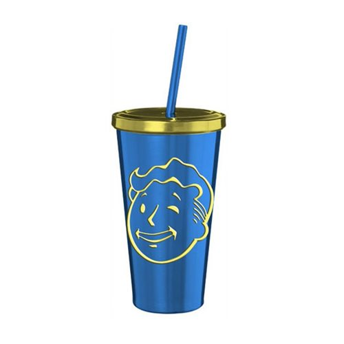 Fallout Vault Boy Stainless Steel 16 Oz. Travel Cup