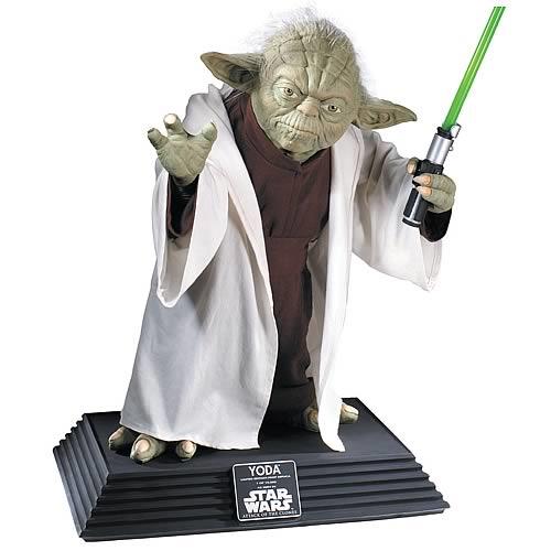 star wars yoda replica life size statue entertainment earth