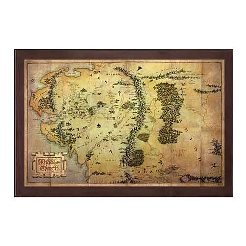 The Hobbit Map of Middle-earth Art Print - Entertainment Earth