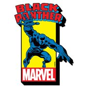 Black Panther with Comic Logo Funky Chunky Magnet