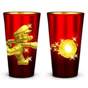 Super Mario Bros. Gold Mario Metal Plated 16 Oz. Pint Glass