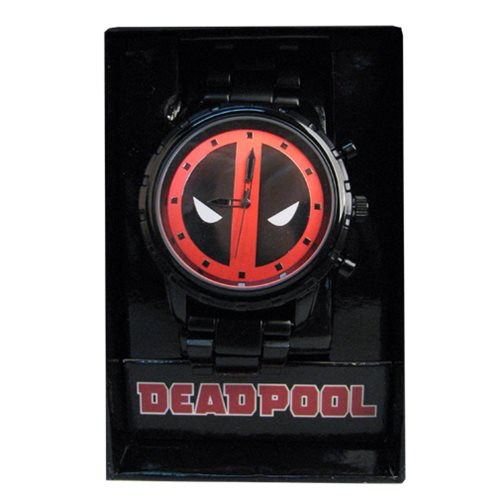 Deadpool Logo Dial Gunmetal Bracelet Watch