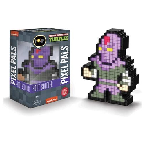 Pixel Pals Teenage Mutant Ninja Turtles Foot Soldier Collectible Lighted Figure