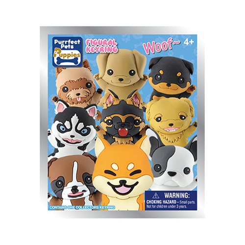 Puppies Series 1 3D Figural Key Chain Random 6-Pack