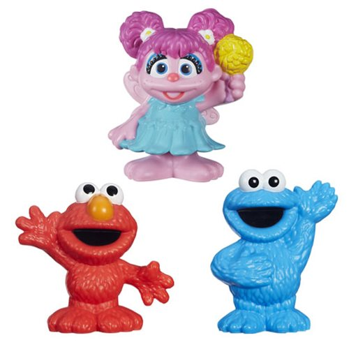 Sesame Street Mini-Figures Cookie Monster, Abby and Elmo Set