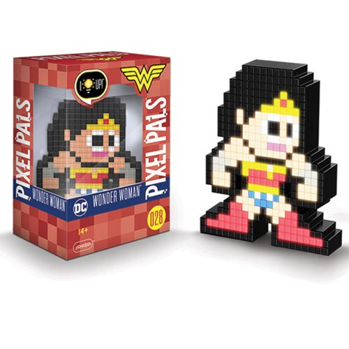 Pixel Pals Wonder Woman Collectible Lighted Figure