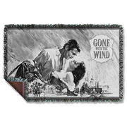 Gone With The Wind Black and White Woven Tapestry Blanket