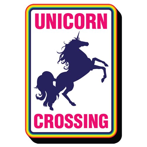 Unicorn Crossing Funky Chunky Magnet
