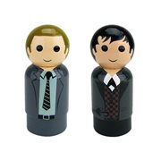 Gotham TV Series Detective Gordon and The Penguin Pin Mates Wooden Collectibles Set