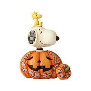 Peanuts Snoopy and Woodstock In Pumpkin Statue by Jim Shore