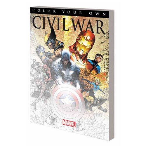 Marvel Civil War Coloring Book
