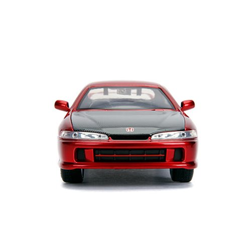 JDM Tuners 1995 Honda Integra Type-R Candy Red 1:24 Scale Die-Cast Metal Vehicle