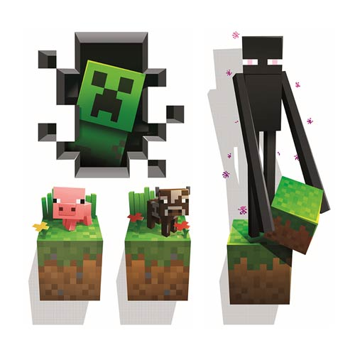 Minecraft Creatures Wall Clings Decal 4-Pack