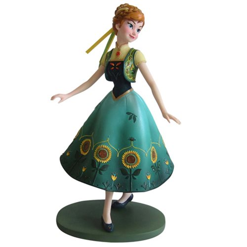 Disney Frozen Fever Anna Green Dress Showcase Statue