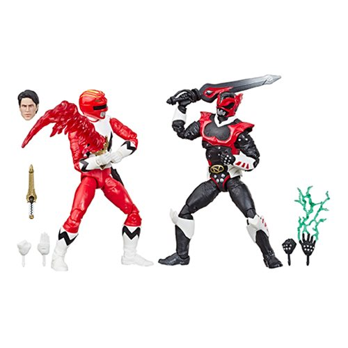 Power Rangers Lightning Collection In Space Psycho Red Ranger and Lost Galaxy Red Ranger 6-Inch Acti