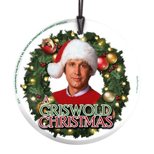 Griswold Christmas.National Lampoons Christmas Vacation Griswold Christmas Hanging Glass Print