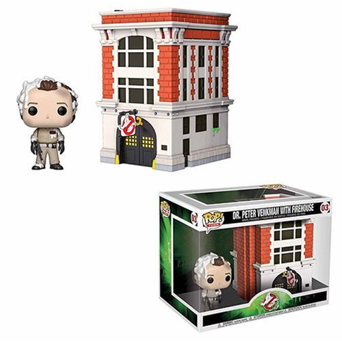 Ghostbusters Peter Venkman with House Pop! Vinyl Figure Movie Moments