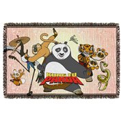 Kung Fu Panda Group Woven Tapestry Throw Blanket