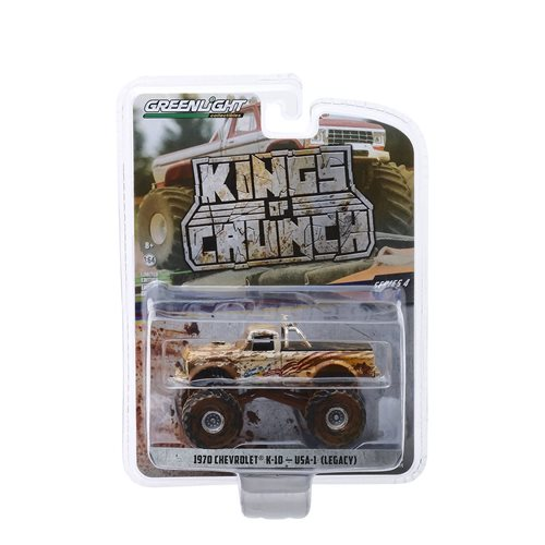 Kings of Crunch Series 4 USA-1 1970 Chevrolet K-10 1:64 Scale Monster Truck Dirty Version