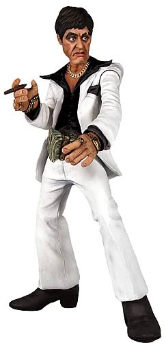 Scarface Talking White Suit Rotocast Figure