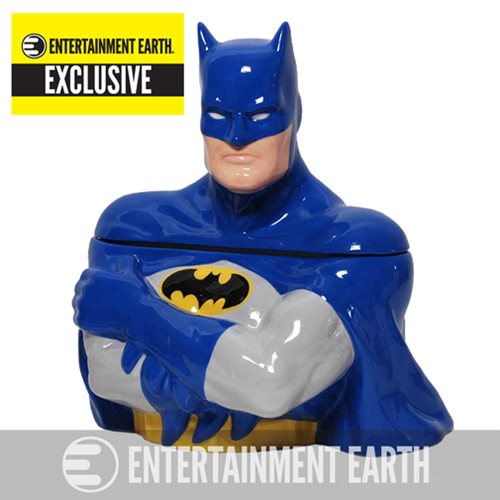 Batman Blue Suit Cookie Jar - Entertainment Earth Exclusive