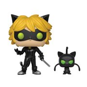 Miraculous Ladybug Cat Noir with Plagg Buddy Pop! Vinyl Figure