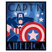 Captain America Decodant Blue Canvas Print