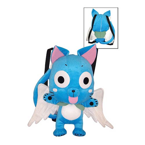 Fairy Tail Happy Cat Plush Backpack