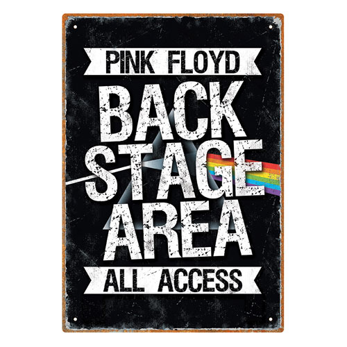 Pink Floyd Backstage Tin Sign