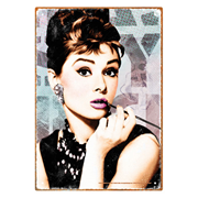 Breakfast at Tiffany's Audrey Hepburn Close Up Tin Sign