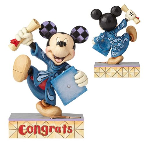 Disney Traditions Graduation Mickey Mouse Congrats Statue