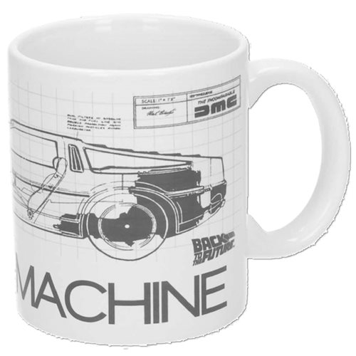 Back to the Future Time Machine Ceramic Mug