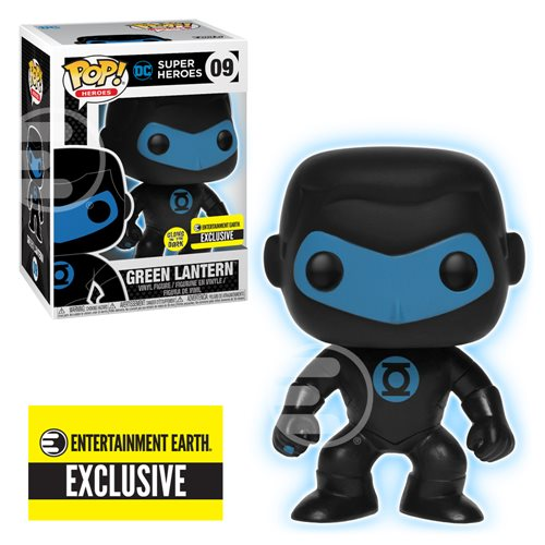 Justice League Green Lantern Silhouette Glow-in-the-Dark Pop! Vinyl Figure - Entertainment Earth Exclusive