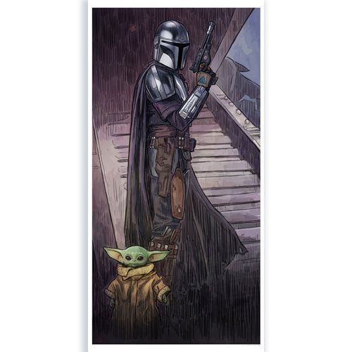 Star Wars: The Mandalorian A Foundling In Your Care by Brent Woodside Lithograph Art Print