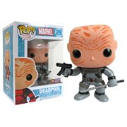 Deadpool Maskless Gray Suit Marvel Pop! Vinyl Bobble Head - Previews Exclusive