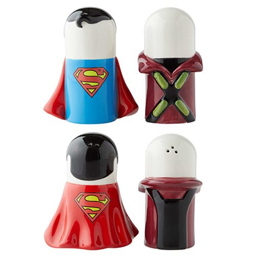 DC Comics Superman vs. Lex Luthor Stylized Salt and Pepper Shaker Set