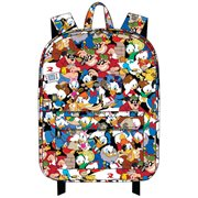 Duck Tales Character Print Nylon Backpack