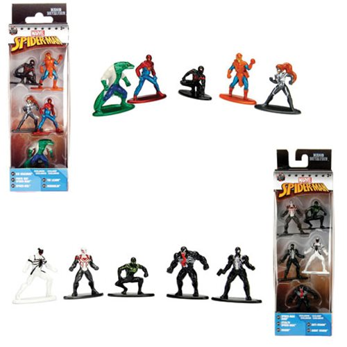 Marvel Nano Metalfigs Die-Cast Mini-Figures SPIDER-MAN 5-Pack