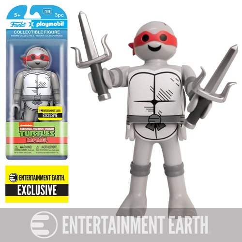 Teenage Mutant Ninja Turtles Raphael Black and White 6-Inch Playmobil Action Figure - Entertainment Earth Exclusive