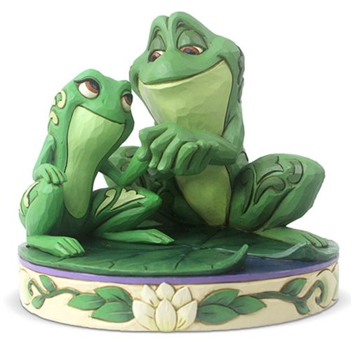 Disney Traditions Princess and the Frog Tiana and Naveen as Frogs Amorous Amphibians by Jim Shore Statue