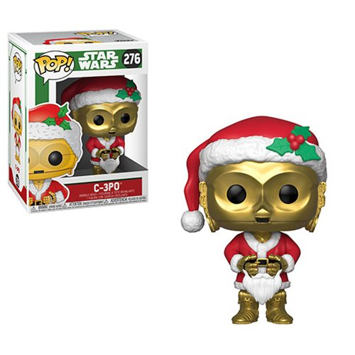 Star Wars Holiday C-3PO as Santa Pop! Vinyl Figure #276, Not Mint