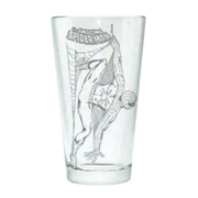 The Amazing Spider-Man Hero Logo Etched Pint Glass