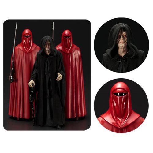 Star Wars Emperor Palpatine & Royal Guards ArtFX+ Statue 3-Pack