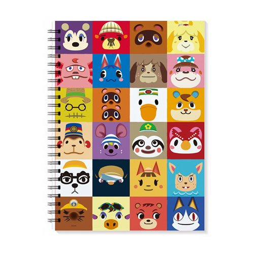 Animal Crossing Character Icon Spiral Notebook