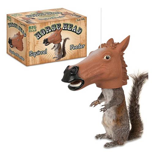 Horse Head Mask Squirrel Feeder
