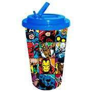 Marvel Heroes Grid 16 oz. Plastic Flip Straw Cold Cup