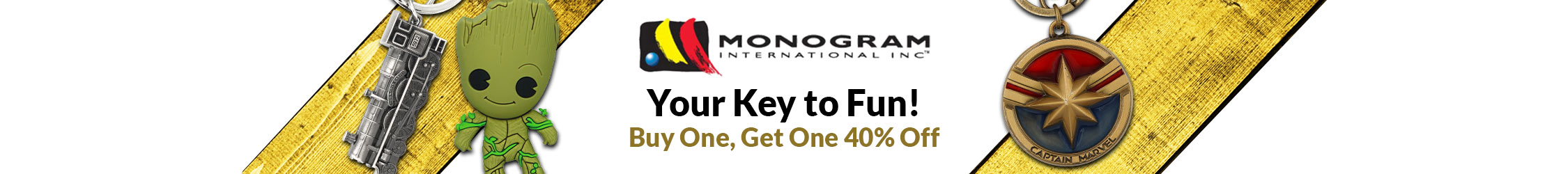 Your Key to Fun! Monogram Buy One Get One 40% Off Sale